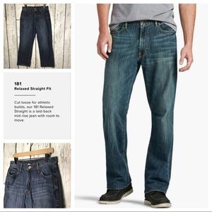 Lucky brand 181 relaxed straight short inseam
